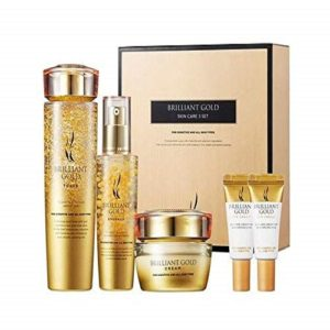 Bolehshop - Skincare Set Aesthetic Hydration Cosmetics Brilliant Gold