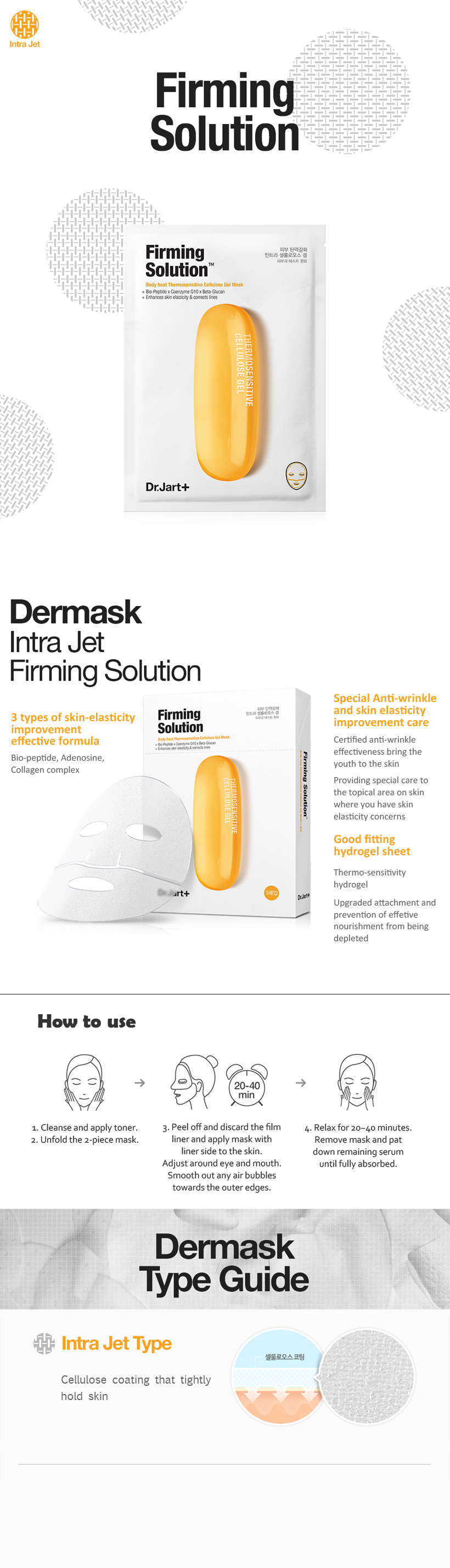 Intra Jet Firming Solution Mask (5pcs)
