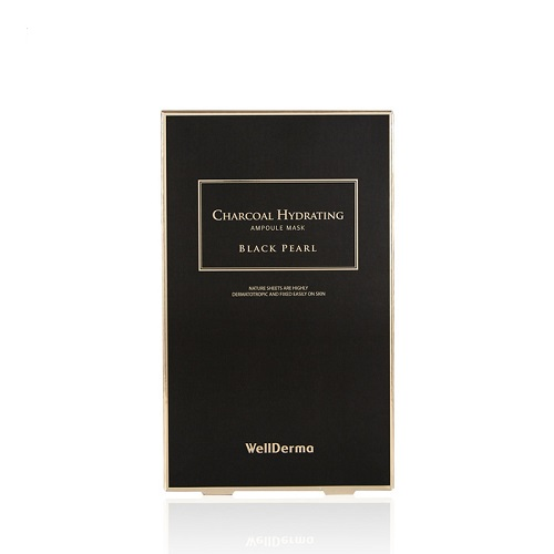 Bolehshop - WellDerma Charcoal Hydrating Black Pearl Ampoule Mask 1 Box