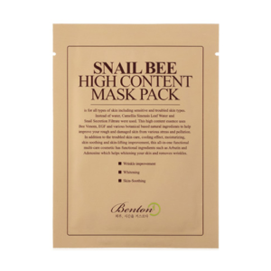Bolehshop - Benton Snail Bee High Content Mask Pack Packaging
