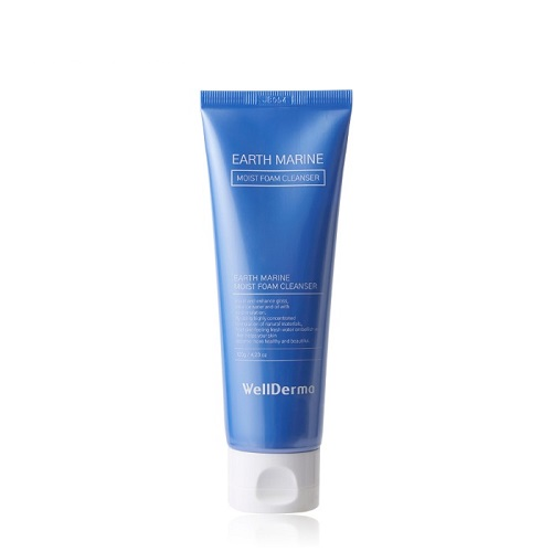Bolehshop - WellDerma Earth Marine Moist Foam Cleanser 120ml