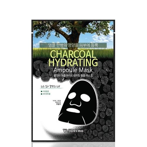 Bolehshop - WellDerma Charcoal Hydrating Ampoule Mask 1 Box