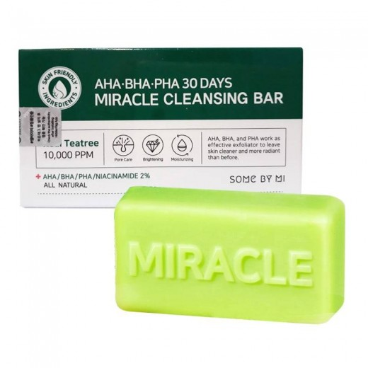 Bolehshop - Some by Mi AHA.BHA.PHA 30Days Miracle Cleansing Bar All Natural